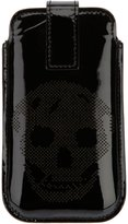 Alexander McQueen perforated skull Blackberry case - men - Calf Leather - One Size