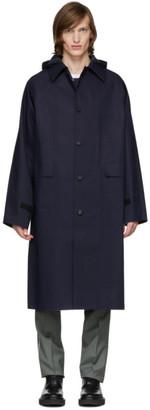 Kassl Editions Navy Below The Knee Trench Coat