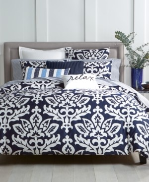 Charter Club Closeout! Damask Designs Navy 2-Pc. Twin Comforter Set, Created for Macy's Bedding