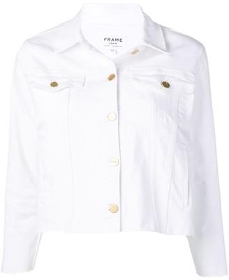 Frame Distressed Cropped Jacket