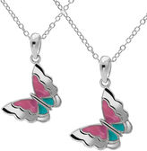 Hallmark Kids Sterling Silver 2-pr. Enamel Butterfly Pendant Necklaces