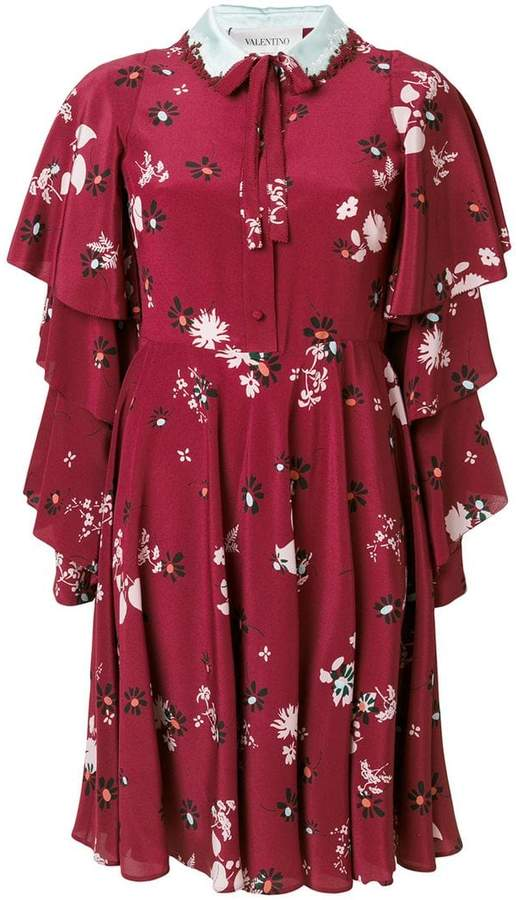 Valentino Crepe De Chine floral print dress