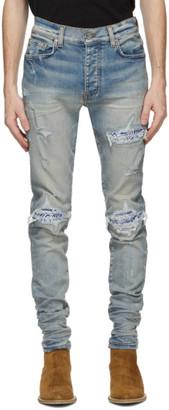 Amiri Indigo Bandana Thrash Jeans