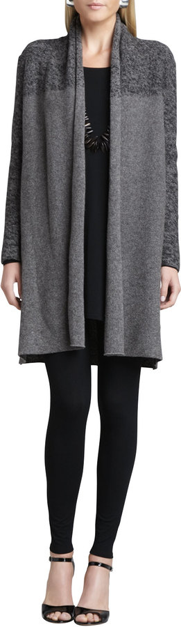 Eileen Fisher Shawl Collar Long Cardigan, Long-Sleeve Tunic & Ankle Leggings, Women's