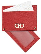 Salvatore Ferragamo Gancio Leather Card Case - Red