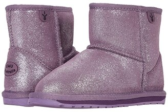 Emu Wallaby Mini Metallic (Toddler/Little Kid/Big Kid) (Grape) Girl's Shoes