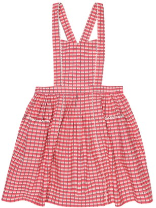 Caramel Donnington checked pinafore dress