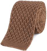 Gibson Camel honeycomb textured knitted tie
