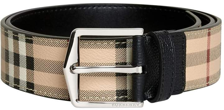 Burberry Haymarket Check belt