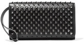 Christian Louboutin Macaron Spiked Leather Wallet - Black