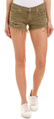 Kenzie Hudson Jeans Worn Olive Cut Off Short