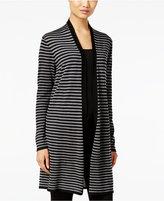 Eileen Fisher Striped Wool Cardigan