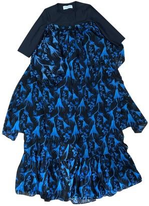 Marine Serre Blue Silk Dresses