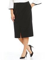 Calvin Klein Plus Straight Midi Skirt