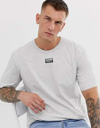 adidas RYV t-shirt with central logo in grey
