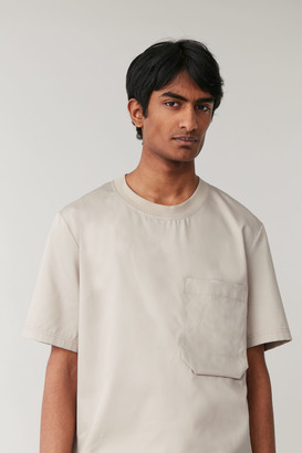 Cos Cotton T-Shirt With Pocket Detail