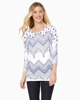 Charming charlie High-Low Abstract Sweater