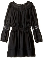 Ella Moss Clover Chiffon Dress with Lace Trim (Big Kids)