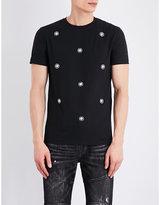 Versus Stud-embellished Cotton-jersey T-shirt