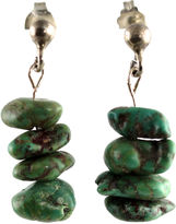 One Kings Lane Vintage Silver Turquoise Nugget Earrings