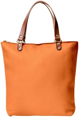 N'damus London Abbey Orange Large Leather Tote Bag