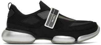 Prada Black and Silver Cloudbust Sneakers