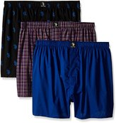U.S. Polo Assn. Men's 3-Pack Woven Boxer Gift Set