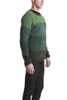 Remi Relief Wool Boarder Layer Crew Green