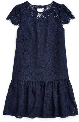 Ralph Lauren Lace Drop-Waist Dress