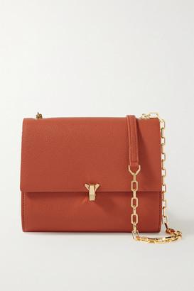 THE VOLON Po Moon Textured-leather Shoulder Bag - Brick