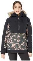 Roxy Shelter Snow Jacket (True Black Poppy) Women's Coat