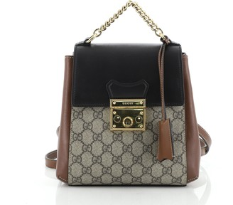 Gucci Padlock Backpack GG Coated Canvas and Leather Mini