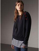 Burberry Resin Button Cotton Sweatshirt