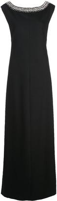 Carolina Herrera embellished sleeveless gown