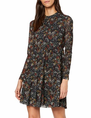 Warehouse Women's Crowded Floral Mesh Tiered Dress
