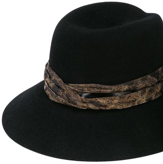 Maison Michel Rose Varnish Fedora Hat