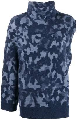 Ports 1961 asymmetric camouflage jumper
