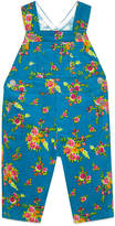 Gucci Baby floral bouquet print corduroy overall