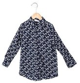 Rachel Riley Boys' Airplane Print Button-Up Shirt