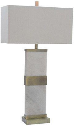 Design Living White Marble, Antique Brass Table Lamp
