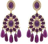 Kenneth Jay Lane WOMEN'S EMBELLISHED DOUBLE-DROP EARRINGS
