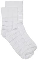 HUE Sheer Stripe Womens Ankle Socks