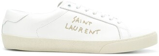 Saint Laurent Logo Embroidered Sneakers