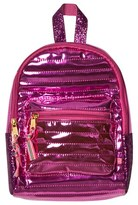 Le Big Pink Shiny Quilted Mini Backpack