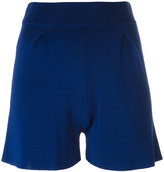 Cruciani front pleat shorts - women - Viscose - 40