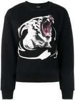 Marcelo Burlon County of Milan tiger print sweatshirt - women - Cotton - XS