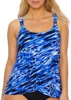 Miraclesuit Lynx Lazuli Dazzle Underwire Tankini Top