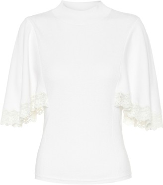 See by Chloe Cotton and silk-blend sweater
