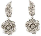John Hardy Diamond Floral Drop Earrings