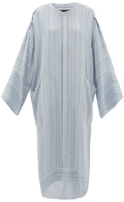 Roland Mouret Petra Crepe Tunic Dress - Light Blue
